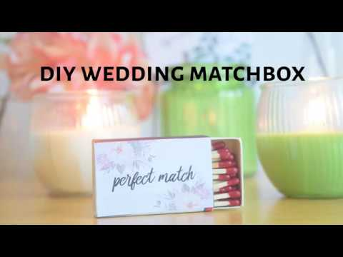 DIY Wedding Matchbox Favors