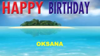 Oksana  Card Tarjeta - Happy Birthday