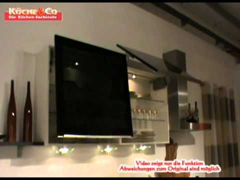 k che co h ngeschrank mit liftt r youtube. Black Bedroom Furniture Sets. Home Design Ideas