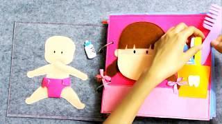 Sách Vải Búp Bê | Quiet Book Doll House | Ghes Handmade