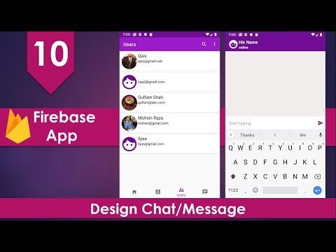 Firebase Social Media App - 10 Design Chat