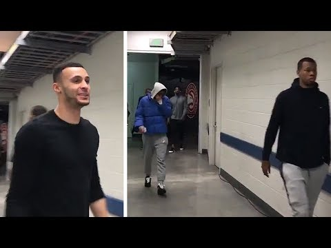 Jordan Clarkson, Larry Nance Jr. & Rodney Hood Arrive To First Cavaliers Game