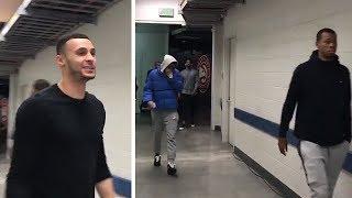 Jordan Clarkson, Larry Nance Jr. & Rodney Hood Arrive To First Cavaliers Game