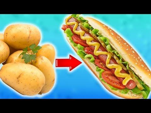 Супер Вкусный Картофельный Хот-Дог с Хрустящей Корочкой