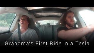 Grandma's Reaction to Tesla Model S P85