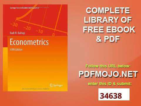 Econometrics Springer Texts in Business and Economics