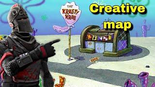 Sponge bob bikini bottom map krusty crab map (fortnite creative mode)