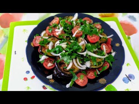 Жареные баклажаны.Простой рецепт. Очень вкусно. Gebratene Auberginen. Fried Eggplant.