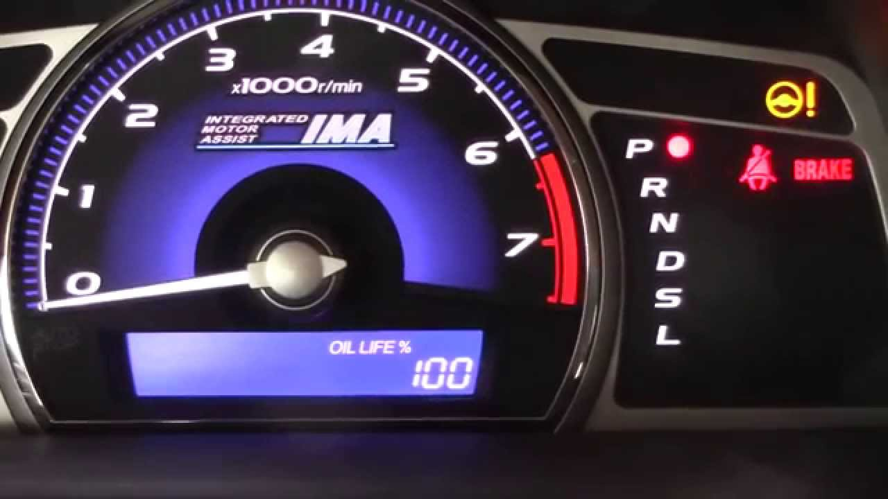 How To Reset Oil Life On A Honda Civic Years 2006 2017