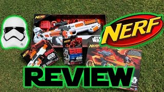Star Wars First Order Stormtrooper NERF Blasters All 3 Comparison & Review