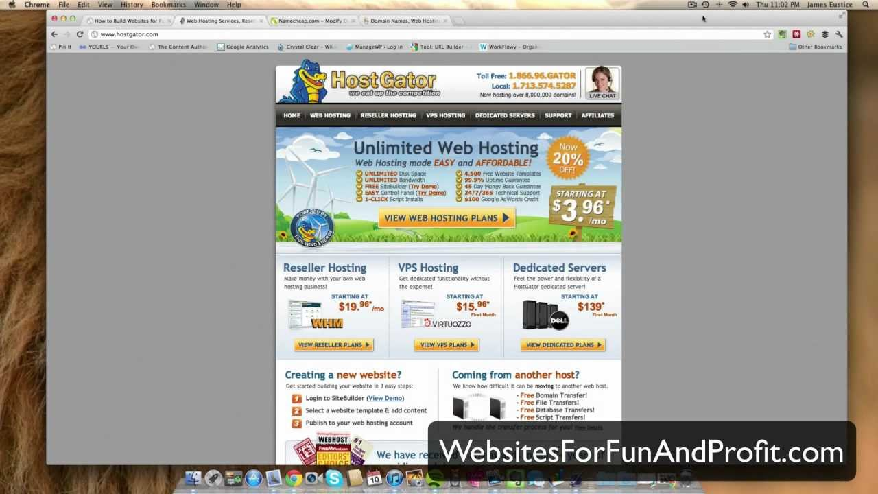 How to Set Up Hostgator Web Hosting - YouTube