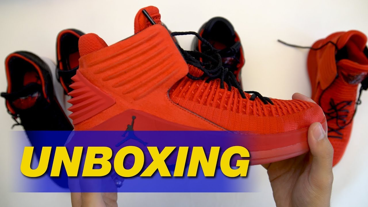 4fd5bf22aa3 Air Jordan 32 Bred & Rosso Corsa Unboxing | Sole Collector
