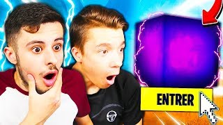 MY SMALL FREE TO TROUVÉ THE SECRET OF the INTERGALACTIC CUBE ON FORTNITE! Incredible... 😱