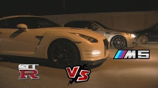 Nissan GTR VS BMW M5 streetrace striben