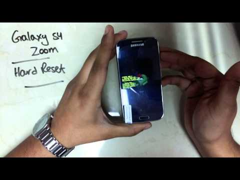 Samsung Galaxy S4 Zoom  Hard Reset Instructions