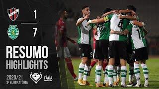 Highlights   Resumo: Sacavenense 1-7 Sporting (Taça de Portugal 20/21)