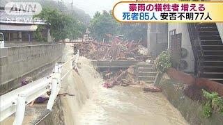 数日は土砂災害に警戒を 死者85人、安否不明77人(18/07/09) thumbnail