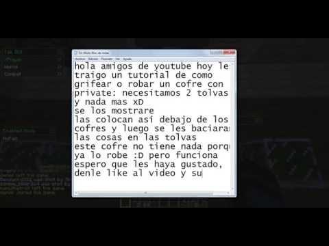 Como abrir cofres con private sin hacks HD [ Minecraft 1.5/1.6/1.7/1.8 ]