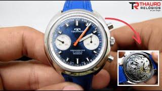 d80f8b460fb Review coleção pessoal  Relógio Technos Chronograph Suíço Década 70 -  Valjoux 7733