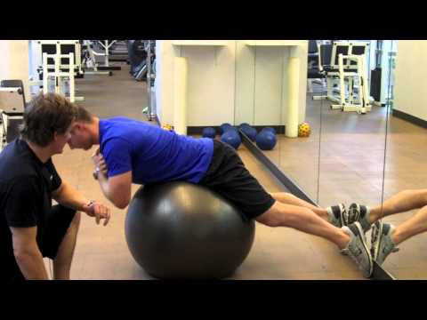 Personal Trainer Vancouver | Swiss Ball Back Extension