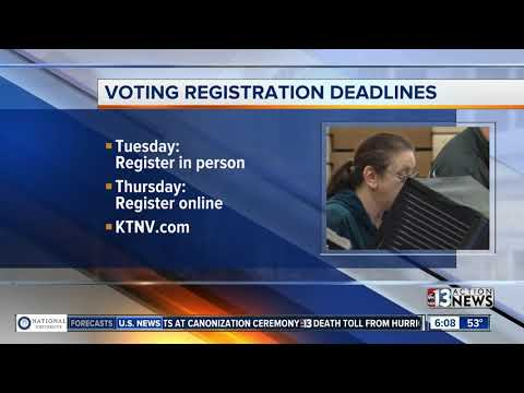 Voter registration deadlines reminder