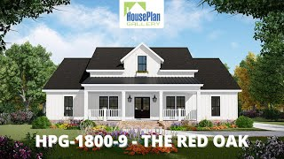 Hpg-1800-9-1 1,800 Sf, 3 Bed, 2.5 Bath Country House Plan By House Plan Gallery