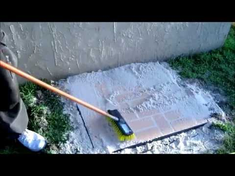 Laying Pavers For Trash Can Pad Youtube