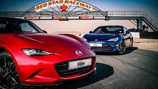 Track Attack: Mazda MX-5 RF vs Toyota 86 (Incl. Drag Race)