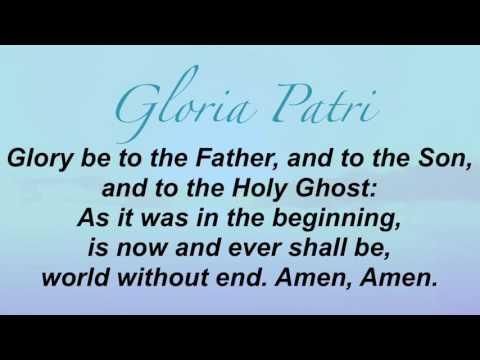 Gloria Patri (Presbyterian Hymnal #622)