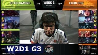 Video OpTic Gaming vs Echo Fox | Week 2 Day 1 S8 NA LCS Summer 2018 | OPT vs FOX W2D1 download MP3, 3GP, MP4, WEBM, AVI, FLV Agustus 2018