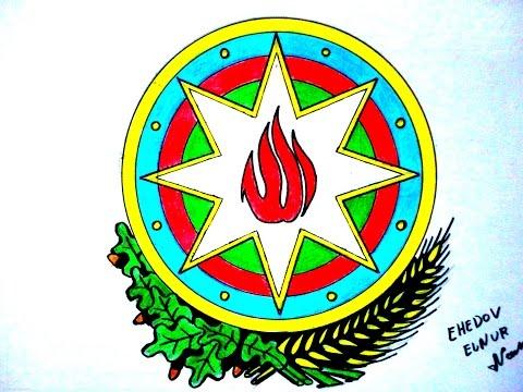Azerbaycan Respublikasinin Gerbini nece cekmek lazimdir(Ehedov Elnur)Как рисовать герб