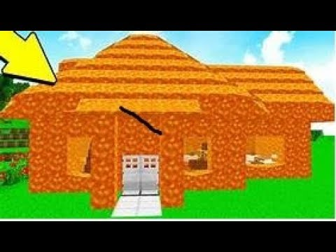 Building A Lava House In Minecraft Youtube