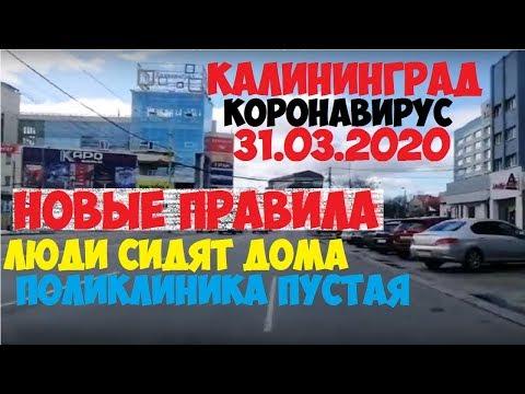 КОРОНАВИРУС В КАЛИНИНГРАДЕ - ЛЮДИ СИДЯТ ДОМА, ПОЛИКЛИНИКА ПУСТАЯ, НОВЫЕ ПРАВИЛА 31.03.2020