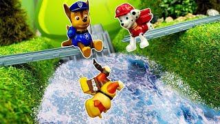 Video mit der Paw Patrol. Chase rettet seine Freunde. Spielzeug Video auf Deutsch