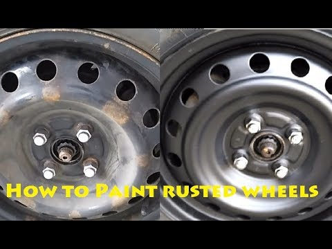 How To Paint Rusty Wheels Steel Rims