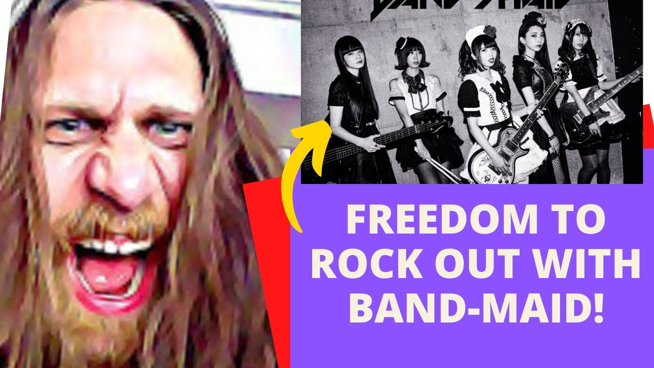 THIS MAKES ME HAPPY!! BAND-MAID Freedom Live (REACTION!!)