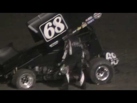 King of the West Sprint Car Crash & Fight @ Ocean Speedway 10/7/16