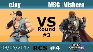Baixar RCS #4 Smash Wii U - cJay (Ryu) vs MSC | Vishera (Ganondorf)