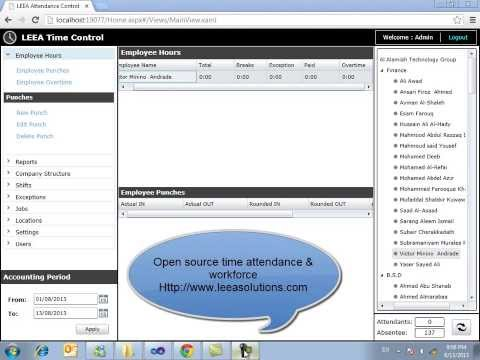 LEEA Open Source Time Attendance & Workforce - Employee Punch:freedownloadl.com  business, tool, window, job, manag, track, time, employe, human, free, a, applic, busi, resourc, activ, download