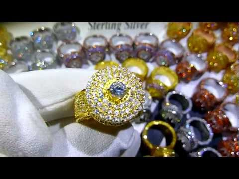 """LabMadeJewelry.com Exclusive: $199 Real 925 Silver CUSTOM LAB MADE DIAMOND """"360 King Rings""""!"""