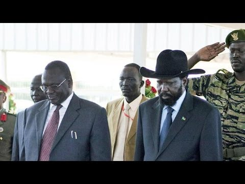 President Kiir and rebel leader Machar signed a deal to end the crisis in South Sudan