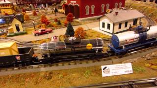 Mth Electric Trains Display Layout With Illinois Terminal Sd70ace And Tinplate General Steamer
