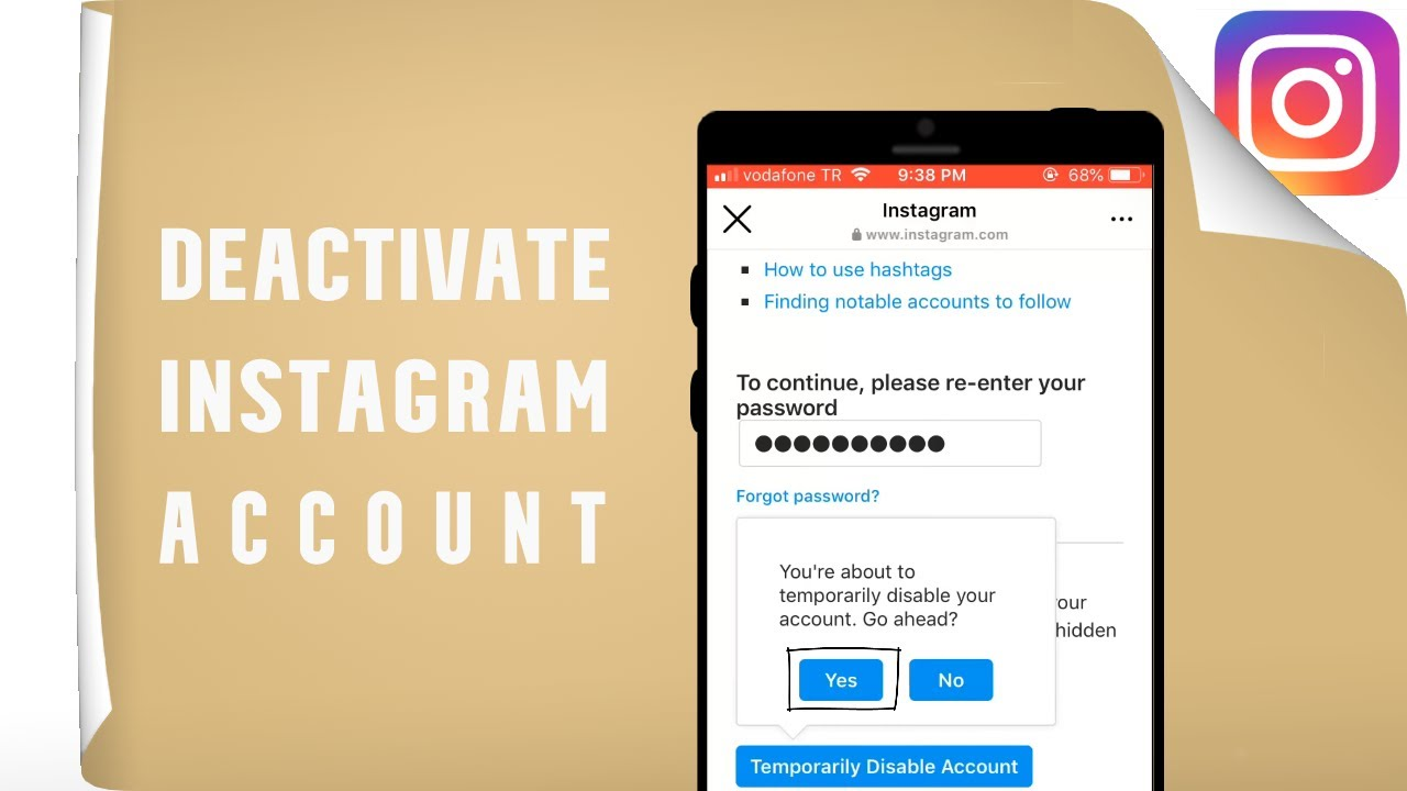 How to Deactivate instagram Account Temprorarily (19)