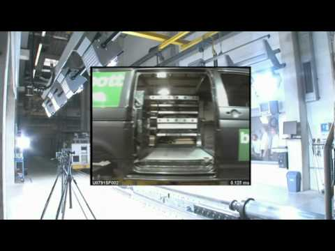 bott crash test 2010 - vario van racking and van shelving
