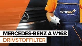 Montering Drivstoffilter bensin og diesel MERCEDES-BENZ A-CLASS: videoopplæring
