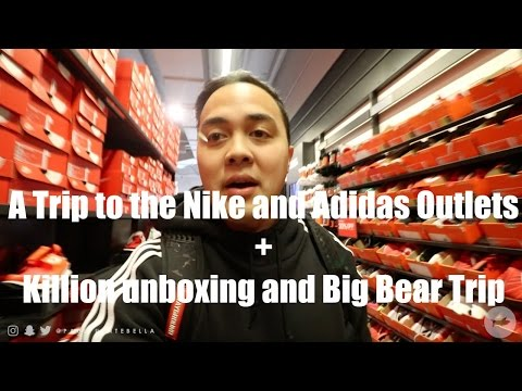 A Trip to Nike and Adidas Outlet + Killion clothing Haul  Vlogmas