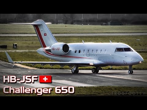 Swiss Bombardier Challenger 650 at RAF Northolt | HB-JSF
