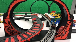 Thomas The Tank Engine And Upside Down Slot Car Jump