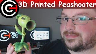 3D Printed Peashooter [Plants Vs Zombies: Garden Warfare 2]