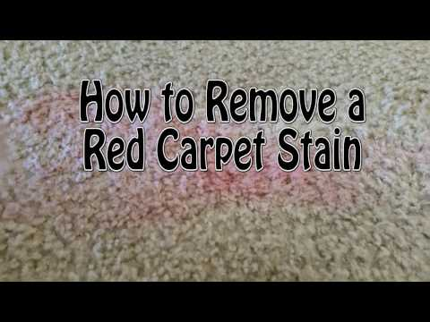 How to Remove a Red Carpet Stain (red wine, kool-aid, punch,)
